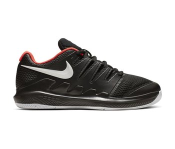 Nike Vapor X Black/Crimson Junior Tennis Shoes
