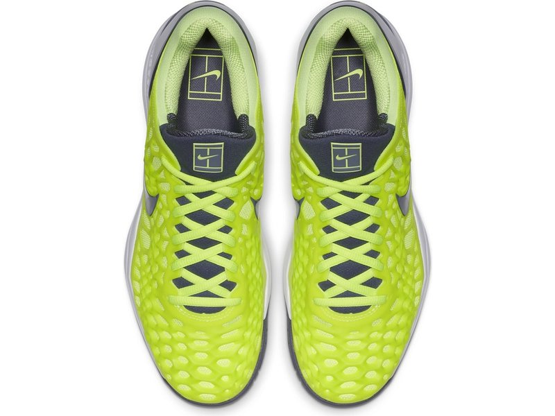 Nike Men's Zoom Cage 3 Volt Glow/Carbon Grey Tennis Shoes