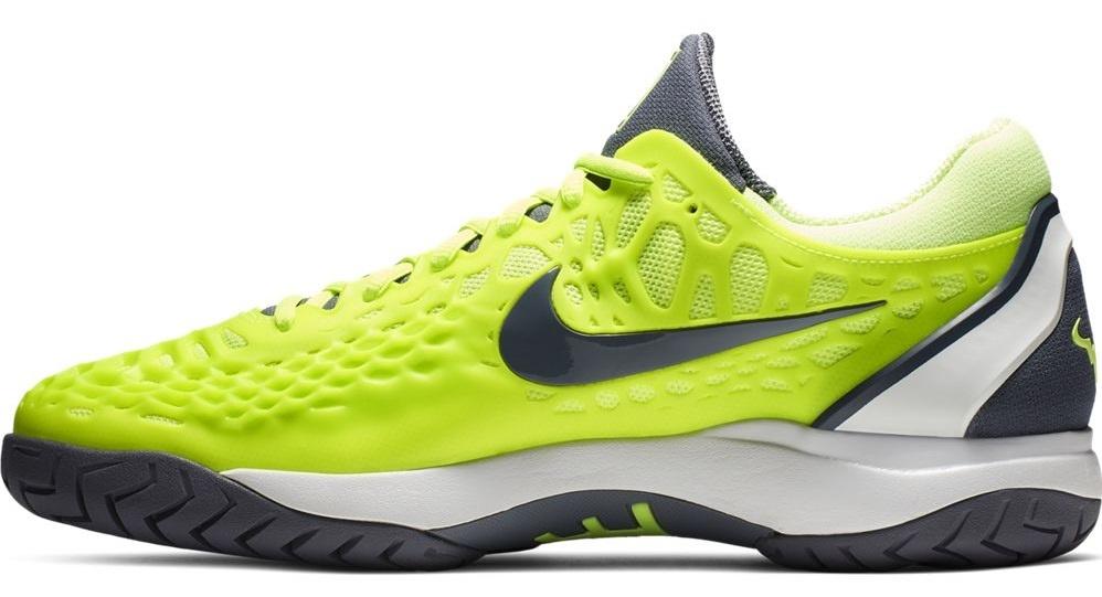 Men's Zoom Cage 3 Volt Glow/Carbon Grey Tennis Shoes