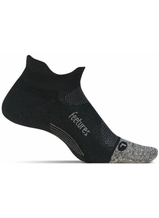 Feetures Elite Light Cushion No Show Tab Socks Black/Grey Large