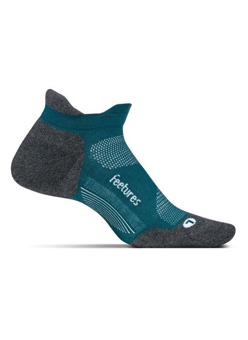 Feetures Elite Light Cushion No Show Tab Socks Emerald Large
