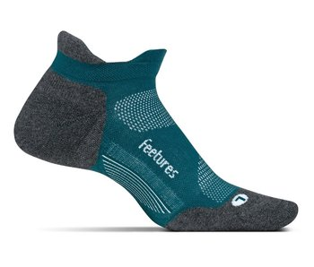 Feetures Elite Light Cushion No Show Tab Socks Emerald Medium
