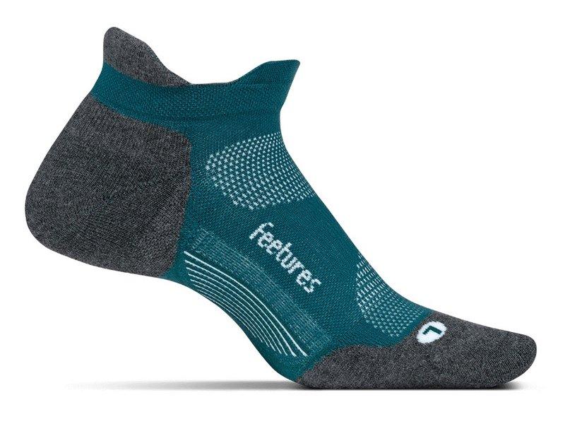Feetures Elite Light Cushion No Show Tab Socks Emerald Medium
