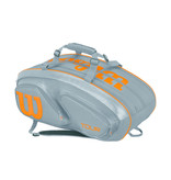 Wilson Tour V 15 Pack Grey/Orange Tennis Bag