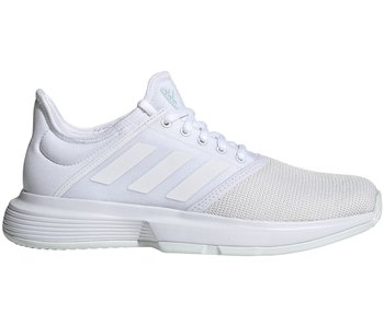 Adidas Women's GameCourt Tennis Shoes White/Blue Tint