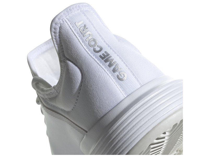 Adidas Women's GameCourt Wide Tennis Shoes White/Silver