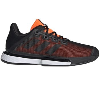 Adidas Men's SoleMatch Bounce Tennis Shoes Black/Orange