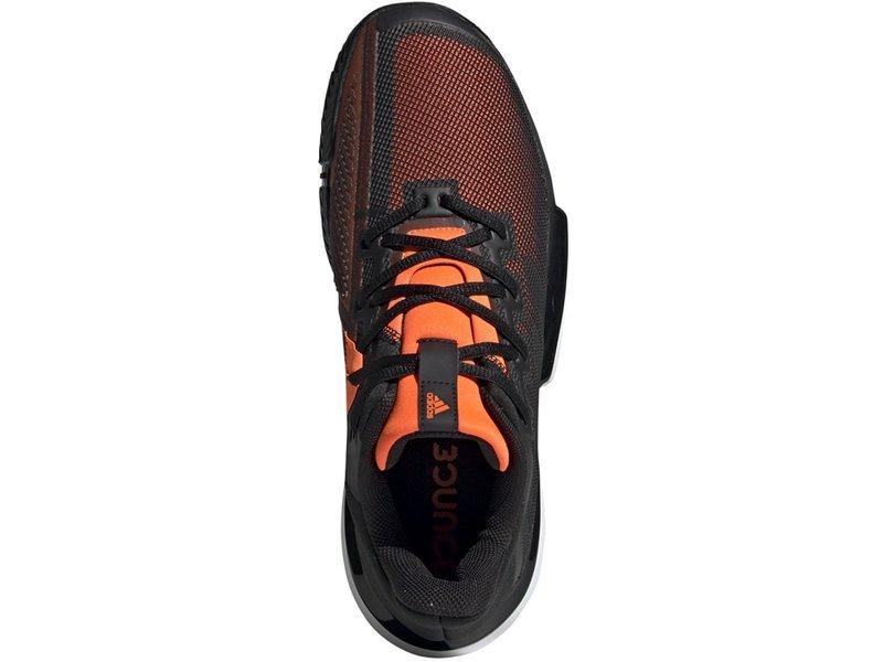 Adidas Men's SoleMatch Bounce Tennis Shoes Black/Orange