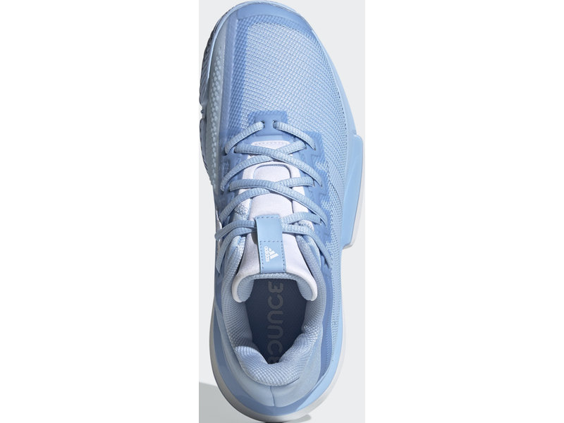 Adidas Women's SoleMatch Bounce Tennis Shoes Glow Blue/White