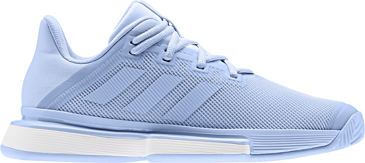 bbb6047d35 adidas Women's SoleMatch Bounce Tennis Shoes Glow Blue/White