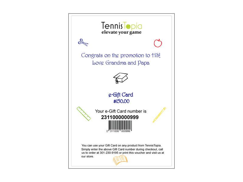 TennisTopia Gift Card  $50