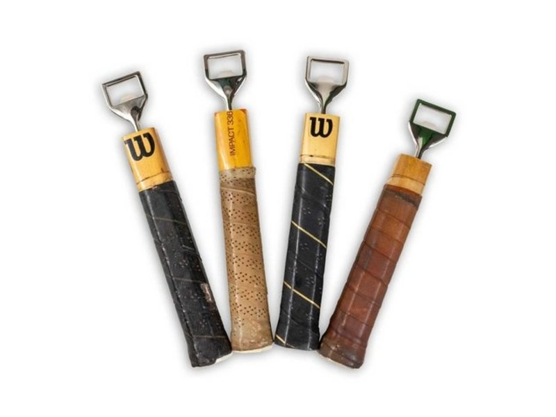 Racquet Inc Antique Wooden Tennis Racquet Bottle Opener