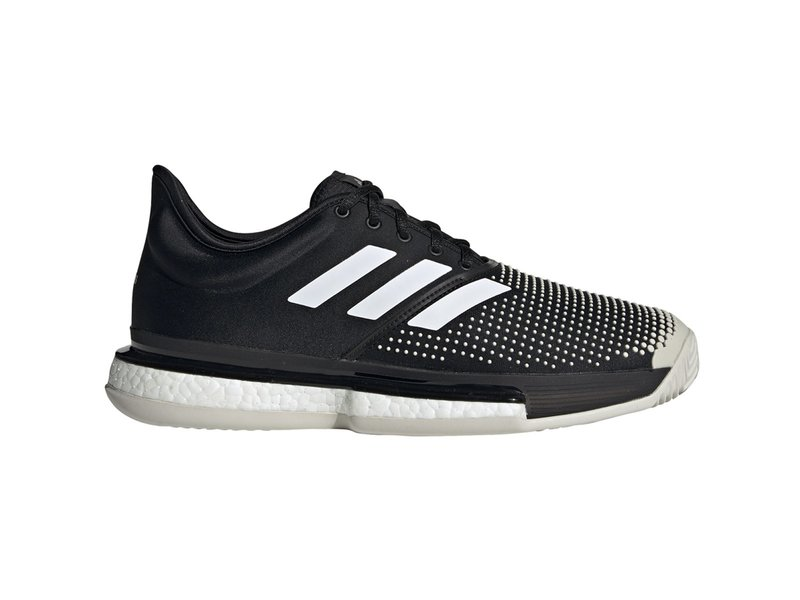Adidas Men's SoleCourt Boost Clay Black/White Tennis Shoes