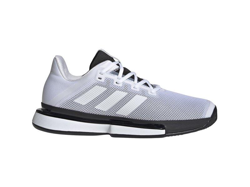 Adidas Men's SoleMatch Bounce White/Black Tennis Shoes