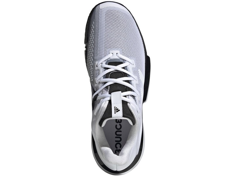 Adidas Men's SoleMatch Bounce White/Black Tennis Shoes
