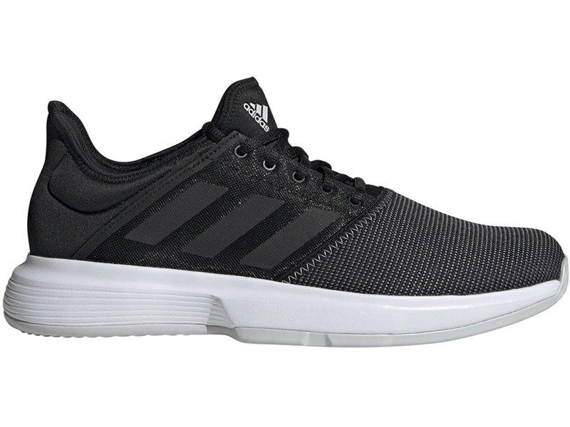 Adidas Men's GameCourt WIDE Tennis Shoes Black/Grey