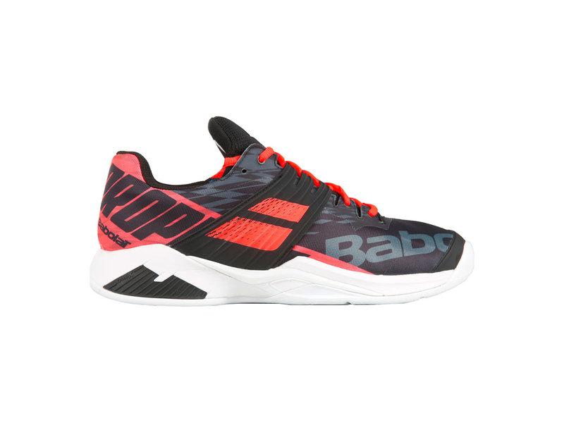 Babolat Tennis Shoes >> Men S Propulse Fury Tennis Shoes Black Fluo Red