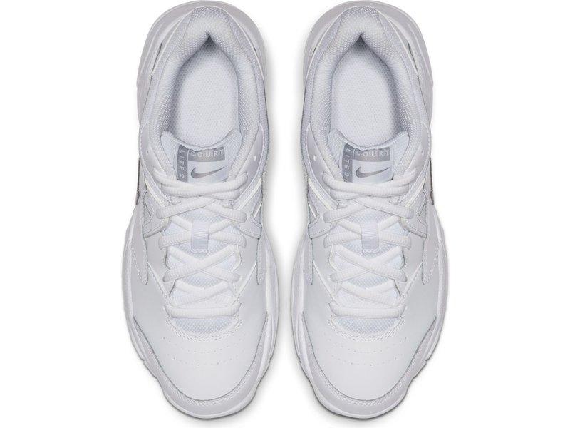 Nike Women's Court Lite 2 Tennis Shoes White/Silver