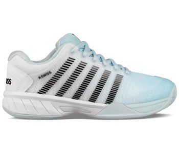 K-Swiss Women's Hypercourt Express Tennis Shoes Pastel Blue/Blk/White