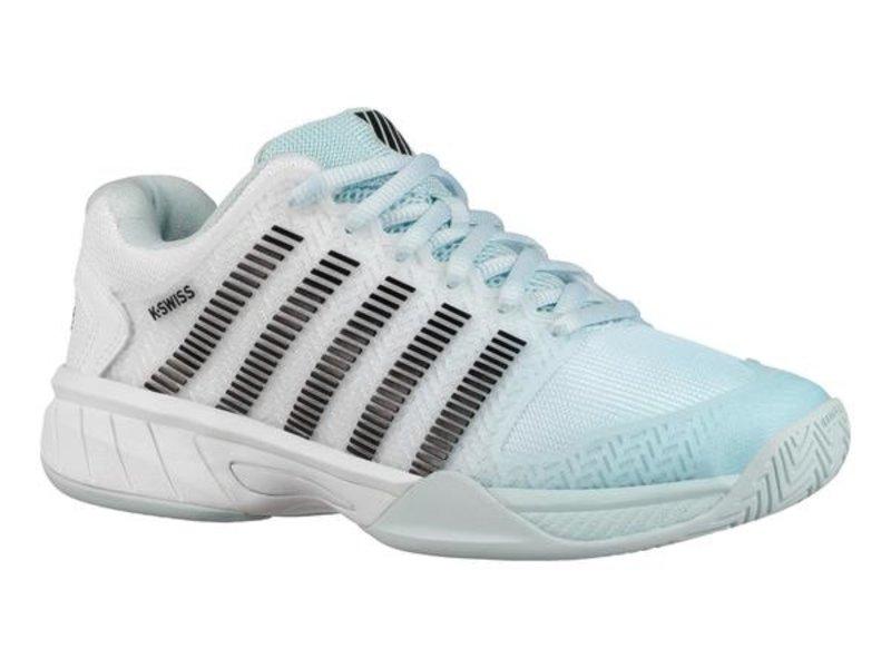 K-Swiss Women's Hypercourt Express Tennis Shoes Pastel Blue/Blk/White