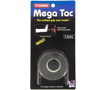 TournaGrip Mega Tac Overgrip 3 pack Black