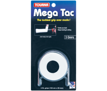TournaGrip Mega Tac Overgrip 3 Pack White