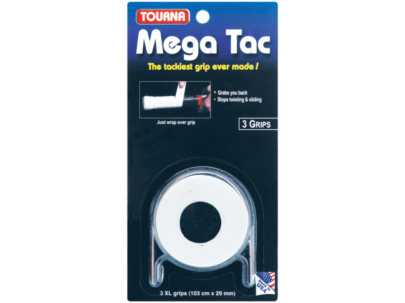 TournaGrip Mega Tac Overgrip 3 Pack White