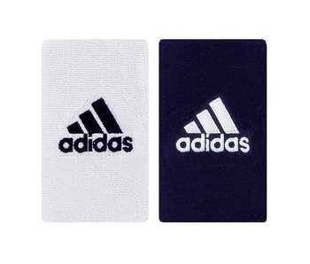 Adidas Interval Large Reversible Wristband White/Navy