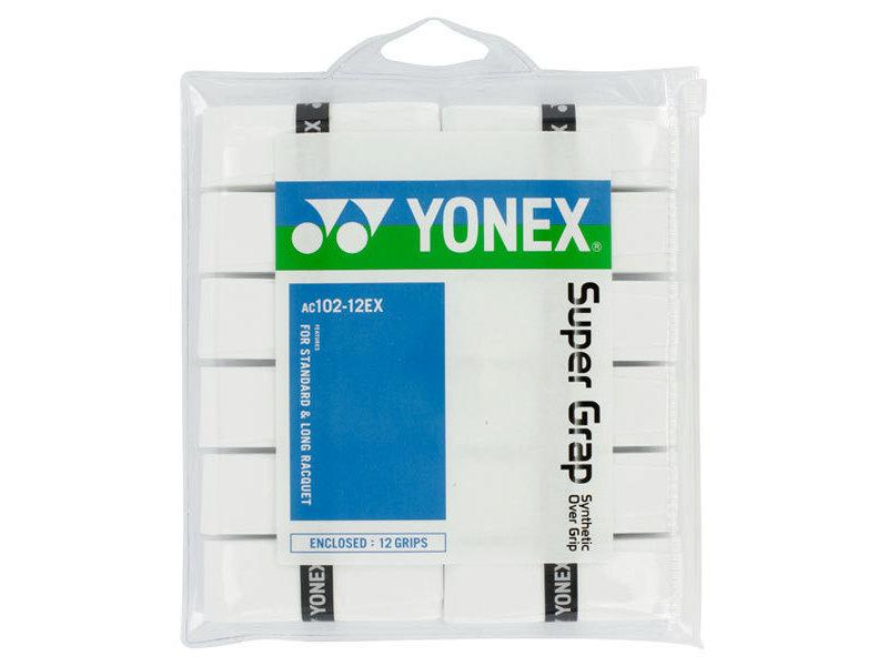 Yonex Super Grap 12 Pack White Overgrips