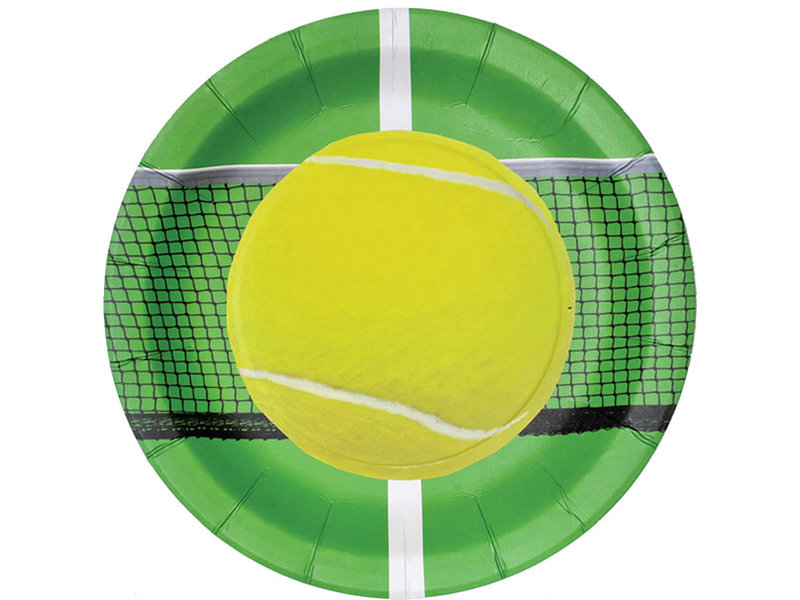 Tennis Paper Plates 8-pack