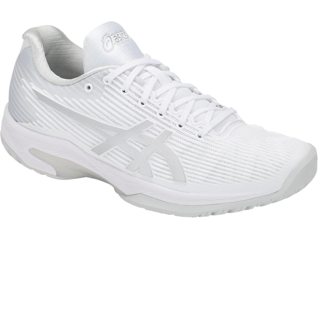 Women's Solution Speed FF Tennis Shoes White/Silver