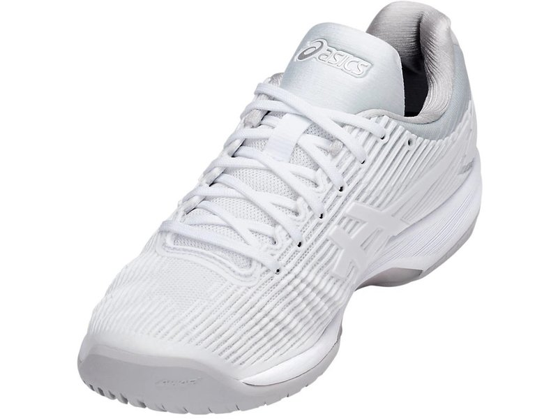 Asics Women's Solution Speed FF Tennis Shoes White/Silver