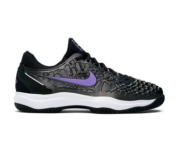 Nike Men's Zoom Cage 3 Tennis Shoes Black/Bright Violet-Multi