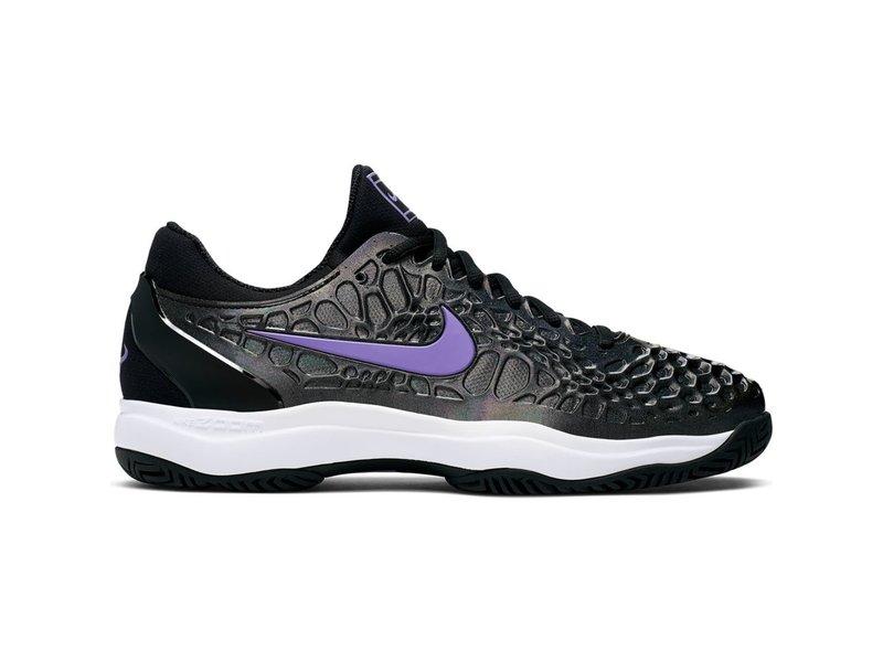 Nike Men's Zoom Cage 3 Tennis Shoes Black/Bright Violet-Multi