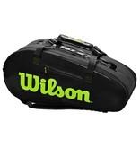 Wilson Super Tour 2 Comp Black/Green 9-Pack Bag