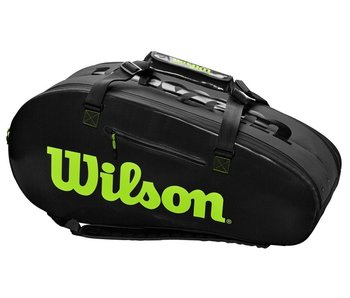 Wilson Super Tour 2 Comp Black/Green 9-Pack Bag