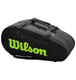 Wilson Super Tour 3 Comp Black/Green 12-Pack Bag