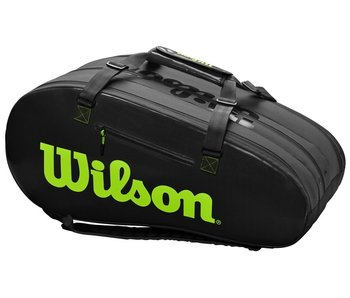 Wilson Super Tour 3 Comp Black/Green 12-Pack Bag