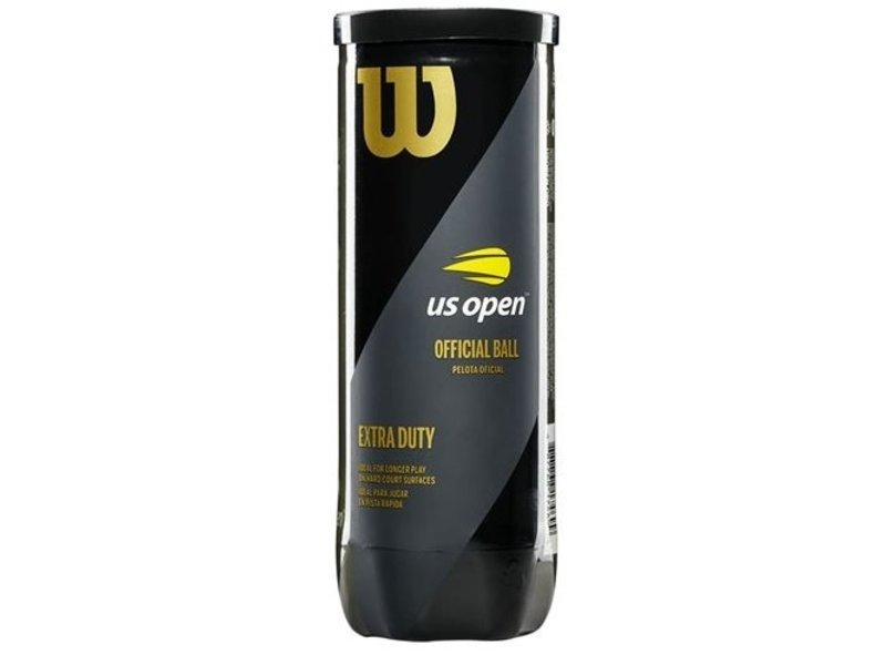 Wilson US Open Balls Extra Duty Tennis Balls Single Can