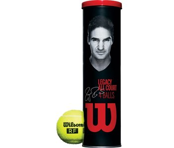 Wilson Roger Federer Legacy Tennis 4-Ball Can