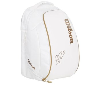 Wilson Federer DNA Tennis Backack Bag Limited White/Gold