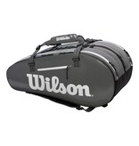 Wilson Super Tour 2-Compartment 9-Pack Tennis Bag Black/Grey/White