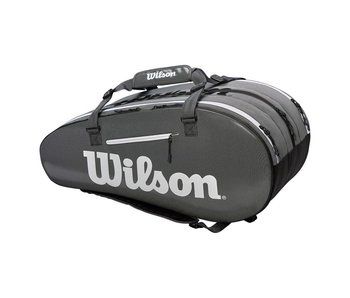 Wilson Super Tour 2-Compartment 9-Pack Tennis Bag Black/Grey/White