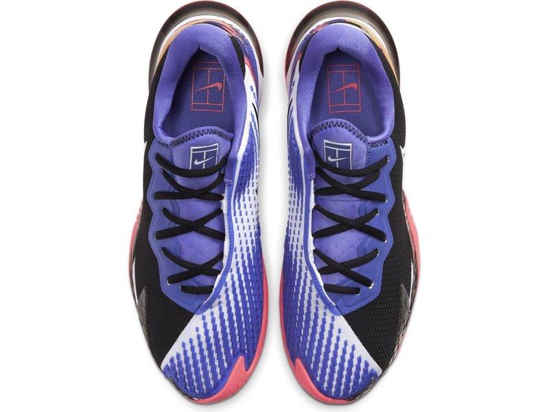 Nike Men's Vapor Cage 4 Tennis Shoes Black/White/Crimson/Violet