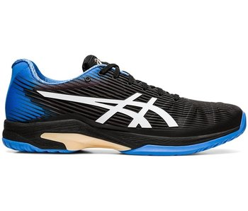 Asics Men's Solution Speed FF Tennis Shoes Black/Blue Coast