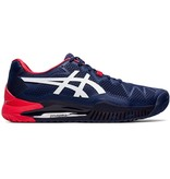Asics Men's Gel-Resolution 8 Tennis Shoes Peacoat Blue/ Red