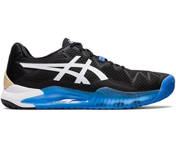 Asics Men's Gel-Resolution 8 Tennis Shoes Black/White
