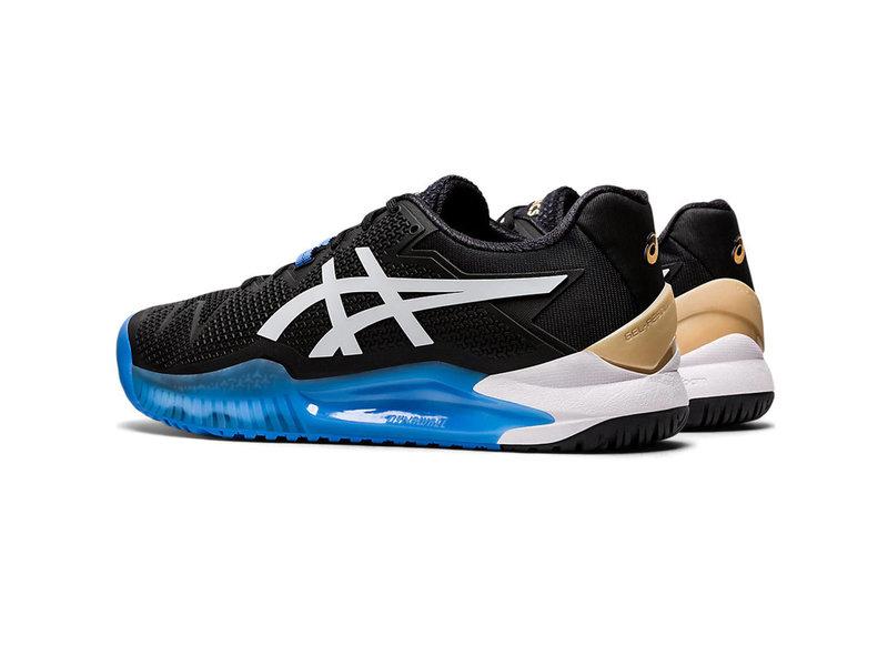 Asics Men's Gel-Resolution 8 Tennis Shoes Black/White