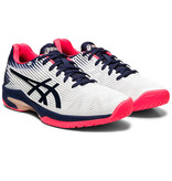 Asics Women's Solution Speed FF Tennis Shoes White/Navy/Pink
