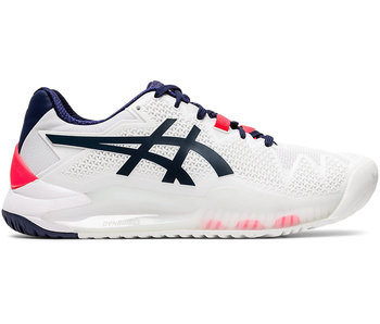 Asics Women's Gel Resolution 8 Tennis Shoes White/Peacoat Navy